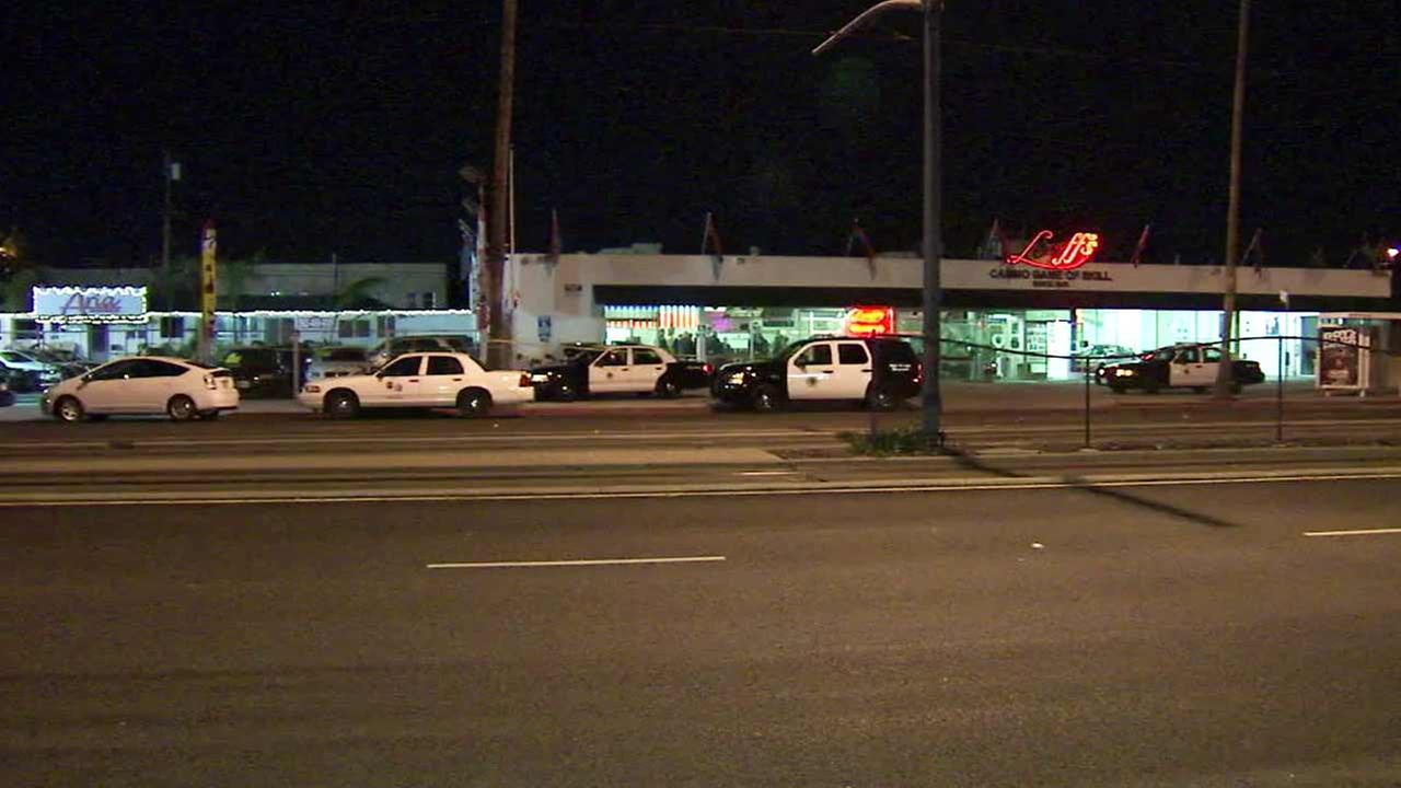 An armed suspect was fatally shot by Long Beach police at Looffs Lite-A-Line Casino Game of Skill in the 2500 block of N. Long Beach Boulevard on Monday, Dec. 14, 2015.