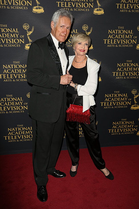 <div class='meta'><div class='origin-logo' data-origin='AP'></div><span class='caption-text' data-credit='Photo by Rich Fury/Invision/AP'>Alex Trebek, left, and Florence Henderson arrive at the 2015 Daytime Creative Arts Emmy Awards at The Universal Hilton on Friday, April 24, 2015, in Universal City, Calif.</span></div>