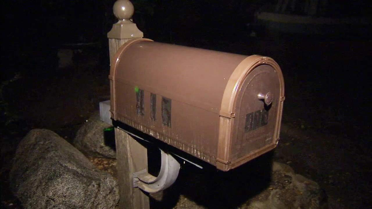 A mailbox from one resident in a Sierra Madre neighborhood where dozens of mailboxes were tampered with on Friday, Dec. 18, 2015.