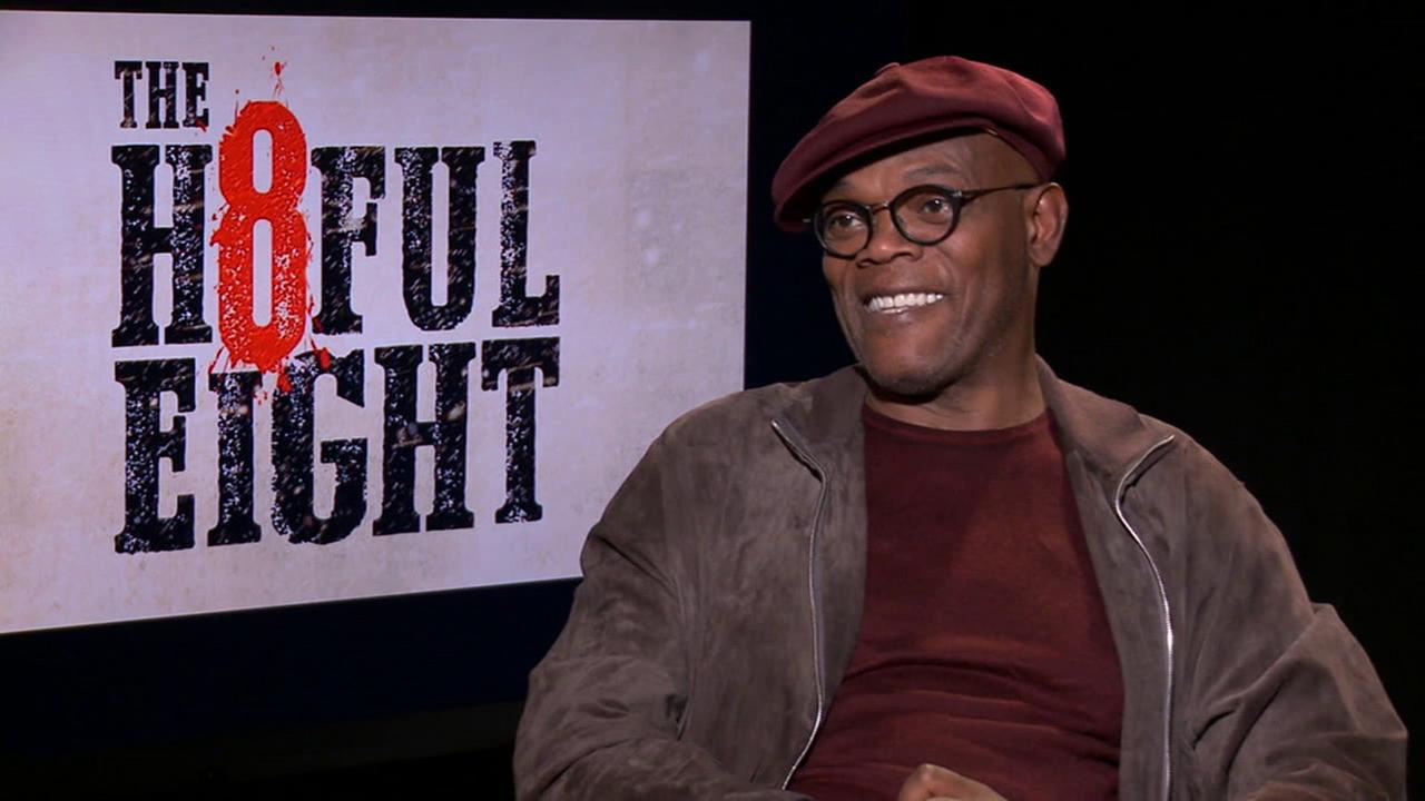 Samuel L. Jackson discusses his upcoming film The Hateful Eight and about his work relationship with movie director-writer Quentin Tarantino.