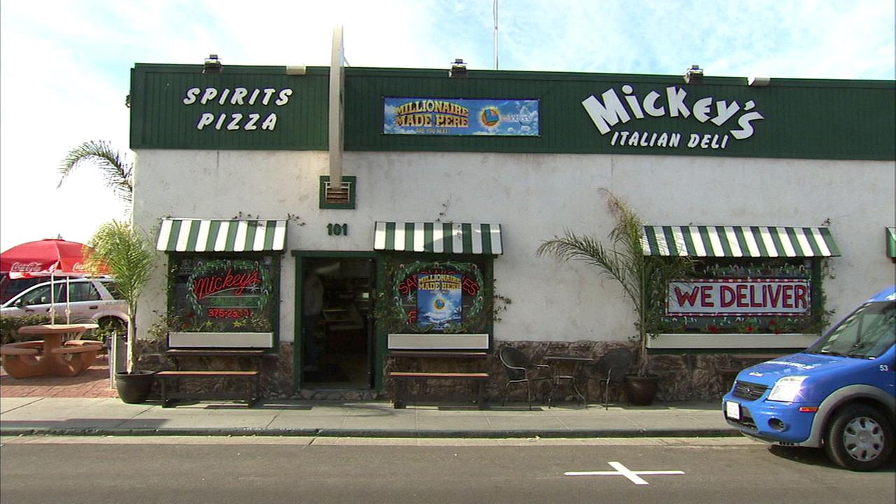 The exterior of Mickeys Italian Deli is seen in this undated photo.