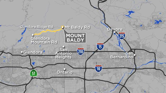 Glendora Ridge Road was shut down between Glendora Mountain and Mt. Baldy roads as a precaution ahead of heavy rain.