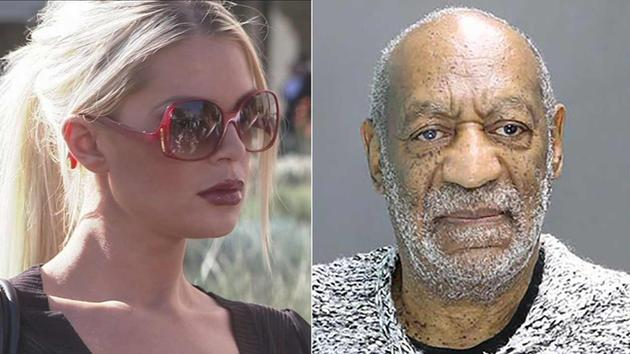 Chloe Goins (left) claims Bill Cosby sexually assaulted her in 2008. Bill Cosby (right) was charged with aggravated indecent assault Wednesday, Dec. 30, 2015 in Elkins Park, Pa.