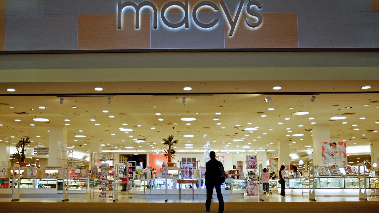 In this Jan. 30, 2009 file photo, a single shopper is seen at the Macys Citi Plaza store in downtown Los Angeles.