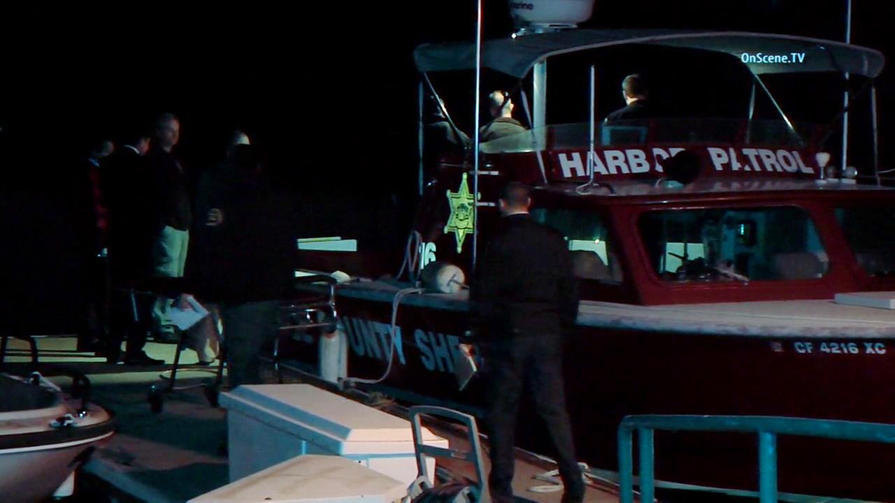 The body of a man was discovered by a kayaker in Huntington Harbor on Friday, Jan. 8, 2016.