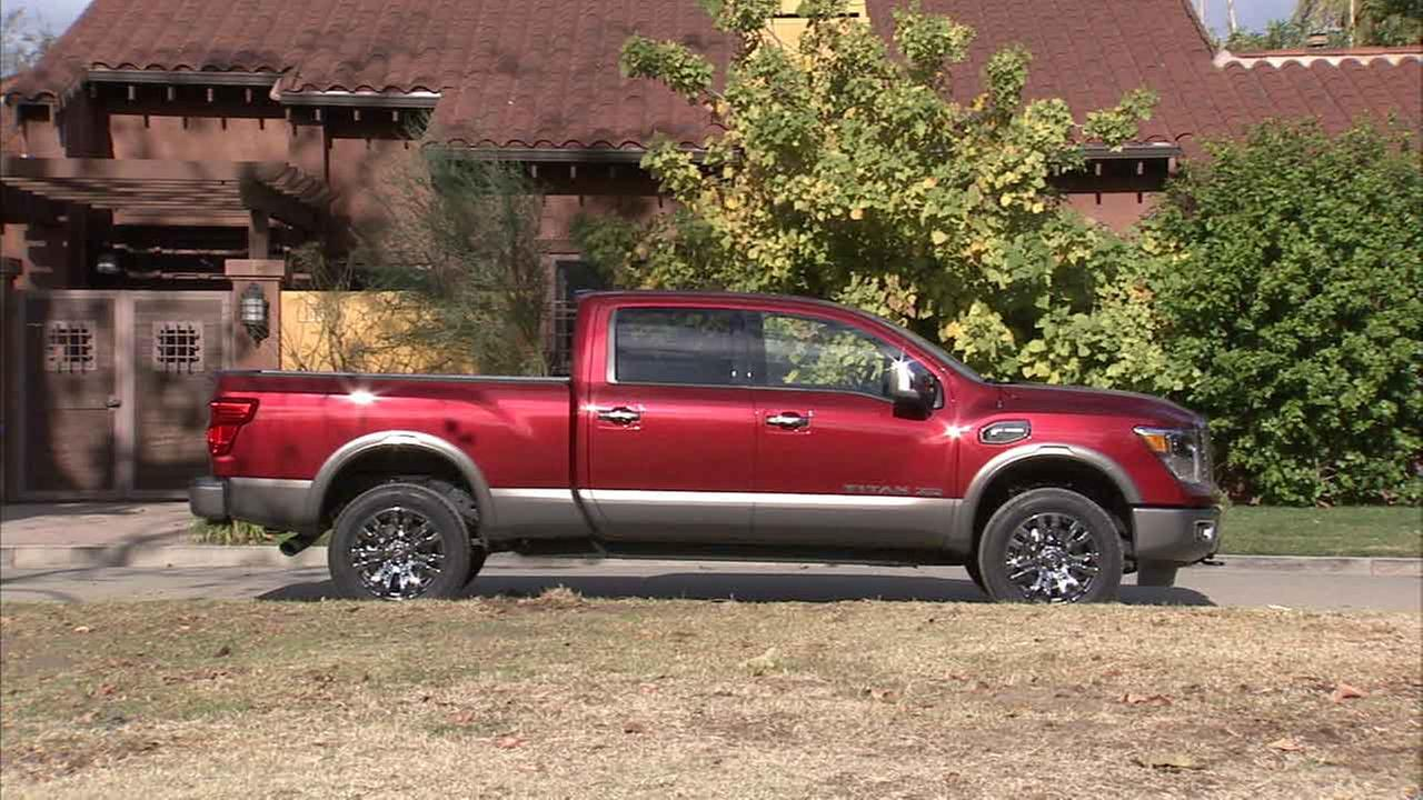 A 2016 Nissan Titan XD model, which offers new hi-tech upgrades.