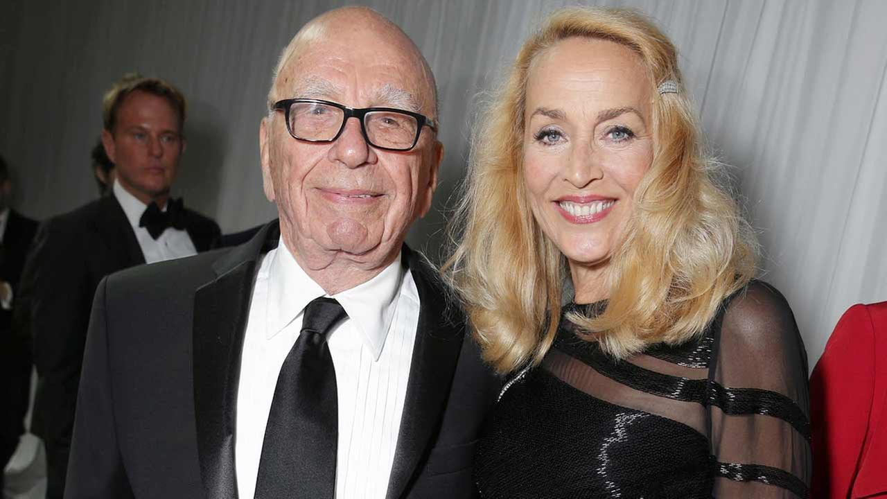 Rupert Murdoch and Jerry Hall seen at Twentieth Century Fox Golden Globes Party on Sunday, Jan. 10, 2015, in Beverly Hills, CA.