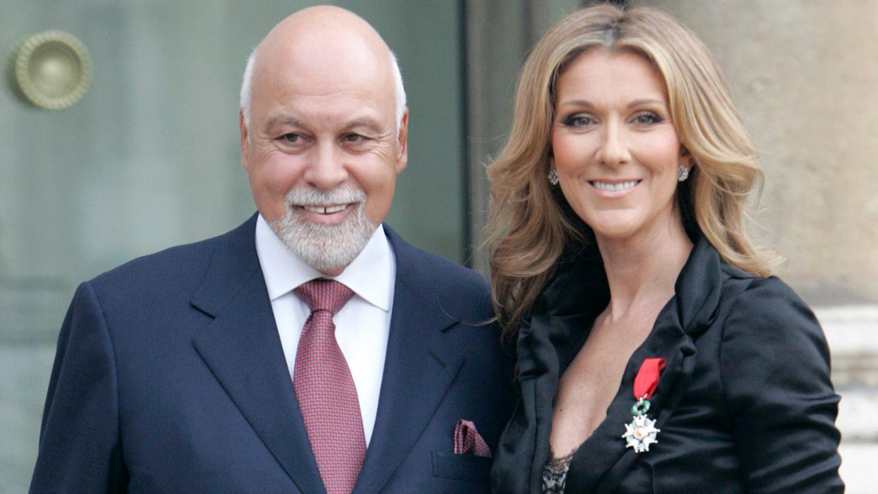 Celine Dion poses with her husband Rene Angelil after being awarded of the Legion dHonneur by French President Nicolas Sarkozy, in Paris, Thursday, May 22, 2008.