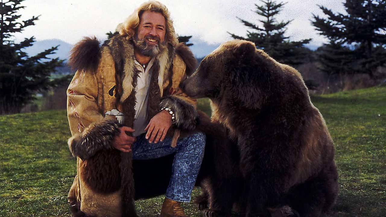Actor Dan Haggerty poses with Ben the Bear in this undated photo provided by the actors manager, Terry Bomar.