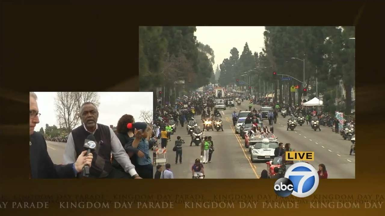 Los Angeles Councilman Curren D. Price Jr. served as grand marshal of the Kingdom Day Parade in South Los Angeles on Monday, Jan. 18, 2016.KABC