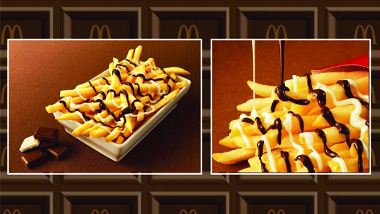 McDonalds new McChoco Potato is seen in this photo released from the restaurant chain.