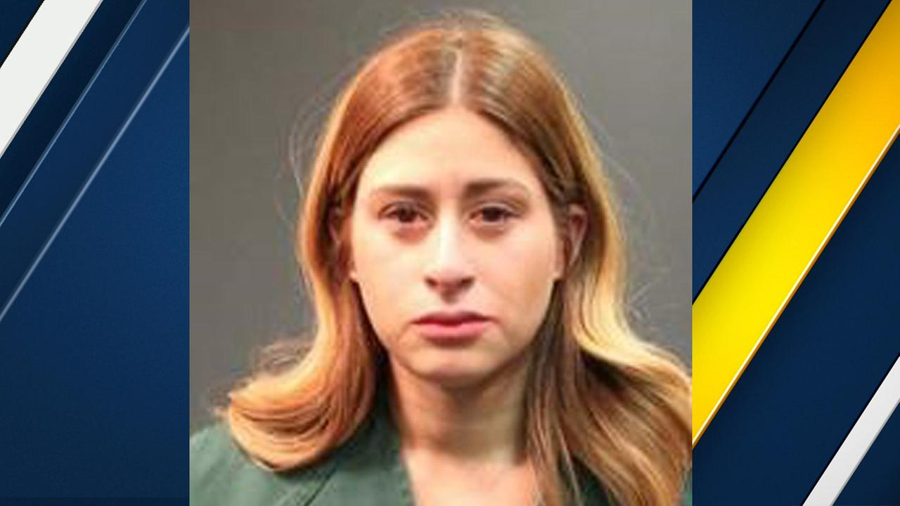 Arica Jenee Ayala, 27, is shown in a booking photo from the Santa Ana Police Department.