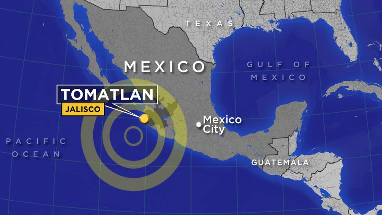 A preliminary magnitude-6.9 earthquake struck off the Mexican coast, 165 miles west southwest of Cihuatlan, Jalisco at 10:07 a.m. PT on Thursday, Jan. 21, 2016.