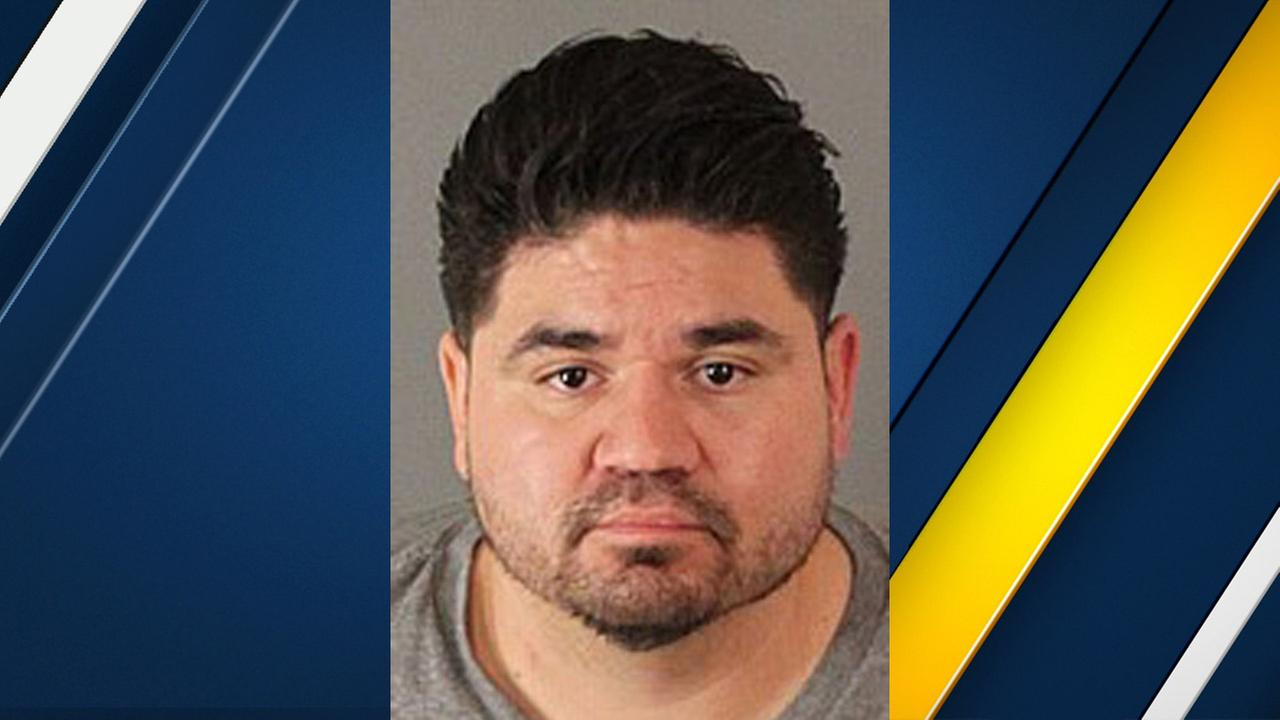 Saulo Mazariegos, 34, of Upland, is shown in a booking photo.