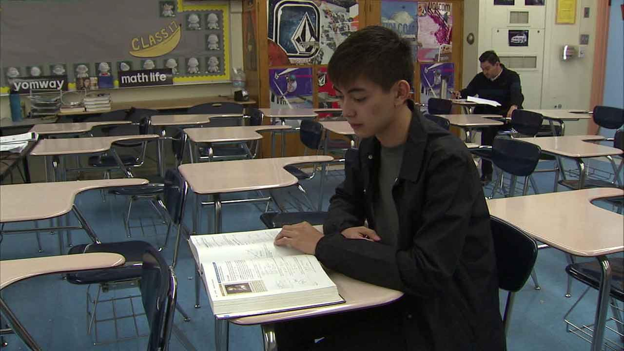 Cedrick Argueta, a 17-year-old senior at Abraham Lincoln High School in Los Angeles, is one of 12 in the world to get a perfect score in the AP calculus exam.