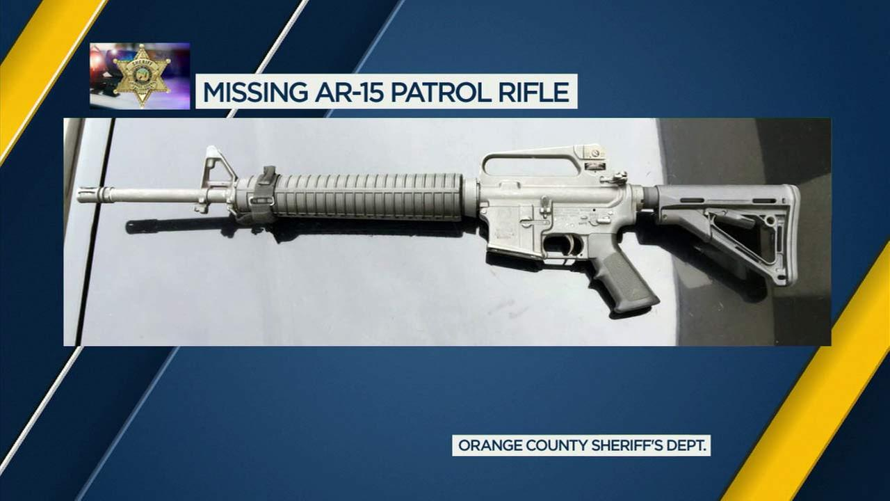 File photo of an AR-15 rifle provided by the Orange County Sheriffs Department.