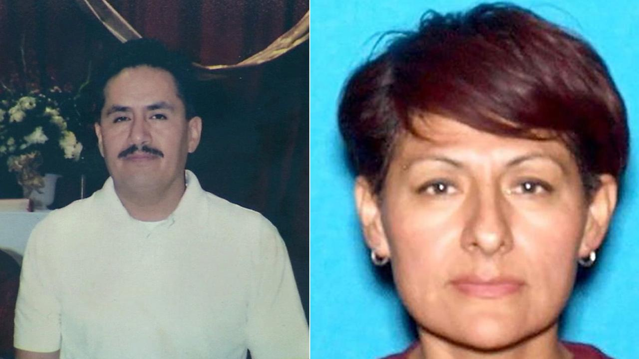 Ivan Hernandez (left), was found dead of a suspected suicide in Pomona. Police are asking for the publics help in locating his missing wife, Marisela Hernandez (right).