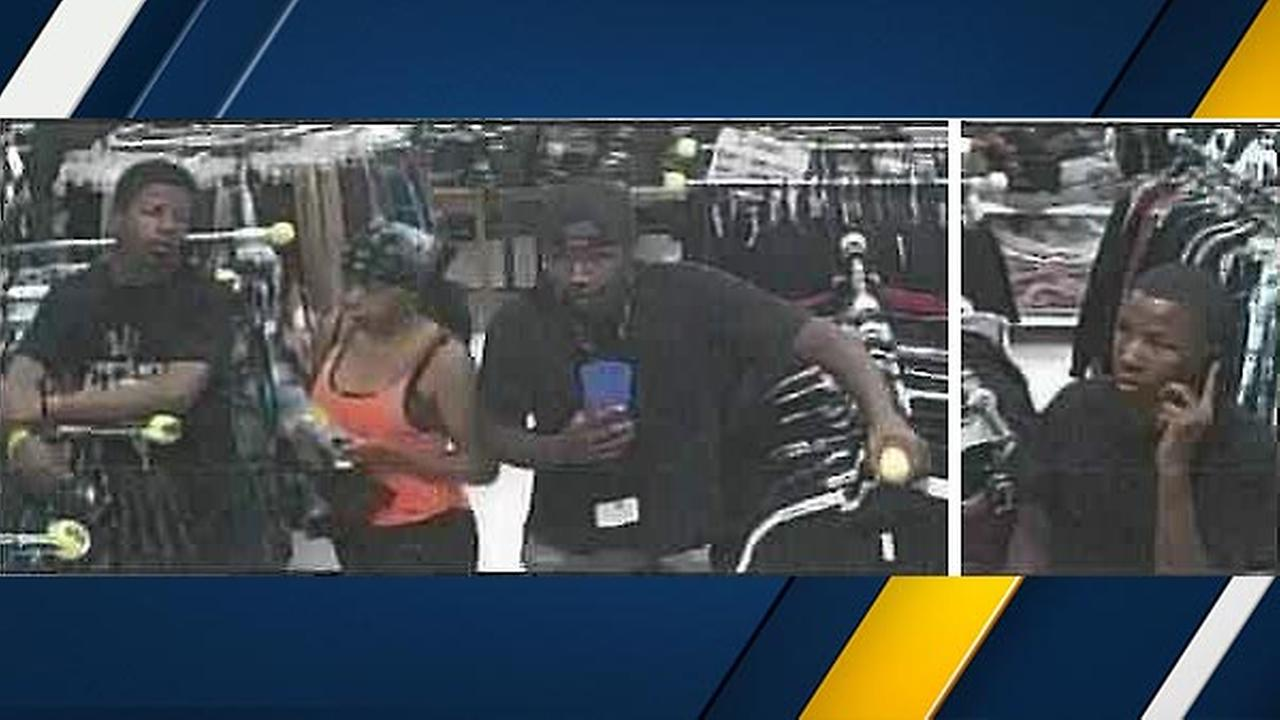 The San Bernardino County Sheriffs Department said four suspects stole more than $11,000 worth of merchandise from the Victorville Galleria on Oct. 8, 2015.