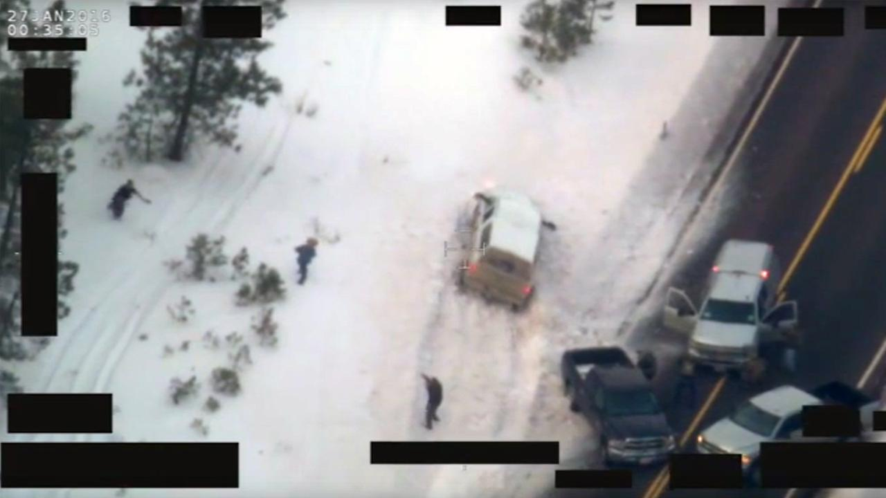 The FBI released video on Thursday, Jan. 28, 2016, of an armed rancher being shot by law enforcement in Oregon.