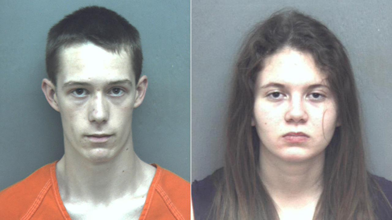 These January 2016 photos provided by Blacksburg Police Department shows Virginia Tech student David Eisenhauer (left) and Natalie Keepers (right).