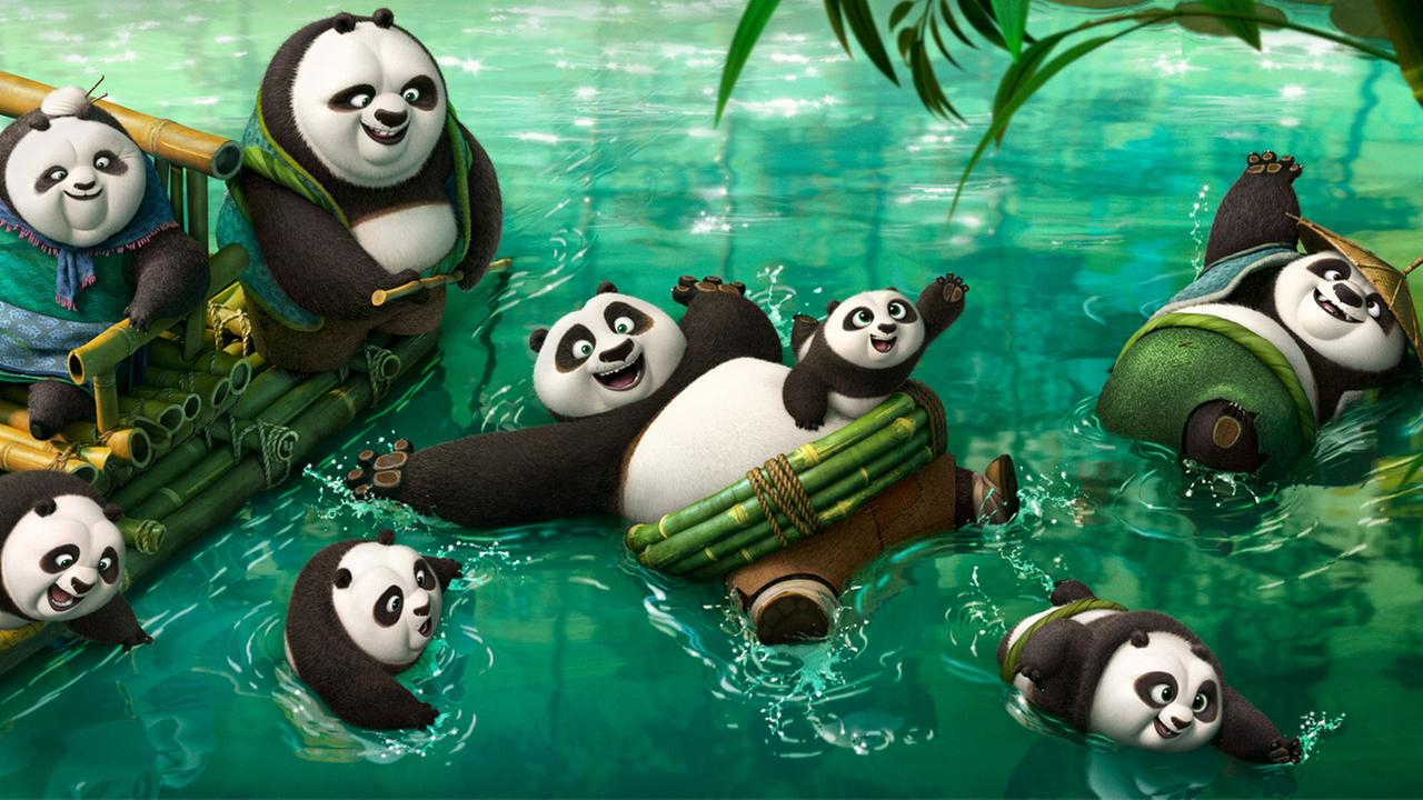 An image from the latest Kung Fu Panda movie is shown.