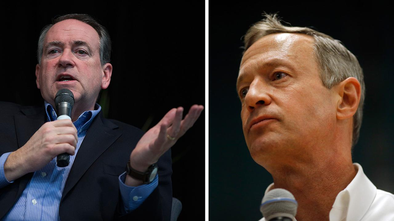 Former Arkansas Gov. Mike Huckabee (left) and Maryland Gov. Martin OMalley (left), suspended their presidential bids on Monday, Feb. 1, 2016.