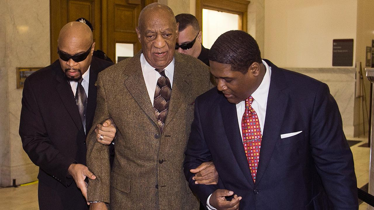 Actor and comedian Bill Cosby, center, arrives for a court appearance Tuesday, Feb. 2, 2016, in Norristown, Pa.