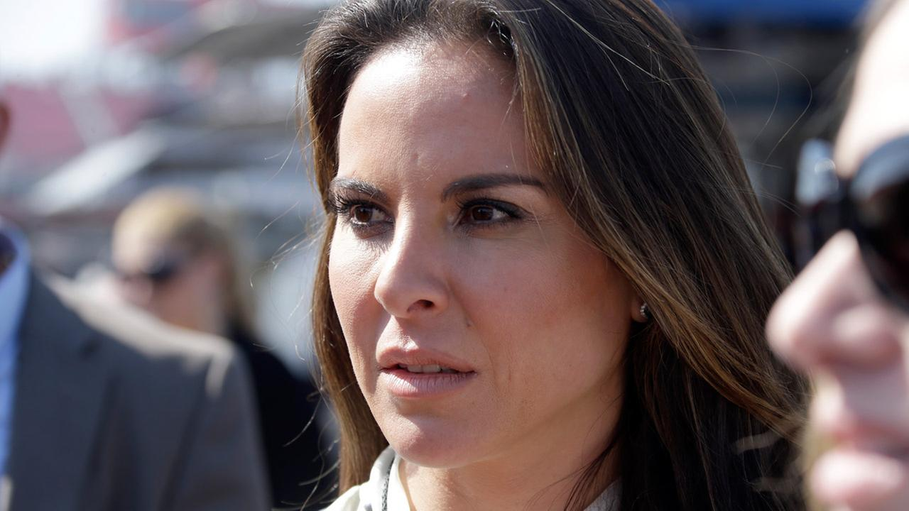 In this March 24, 2013 file photo, Mexican actress Kate Del Castillo attends a NASCAR Sprint Cup auto race in Fontana, Calif.