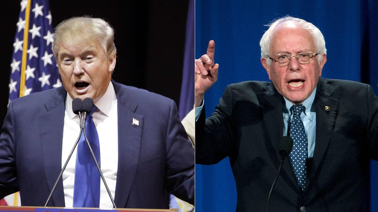 Presidential candidates Donald Trump and Bernie Sanders claimed victory in the New Hampshire Primaries on Tuesday, February 9, 2016.