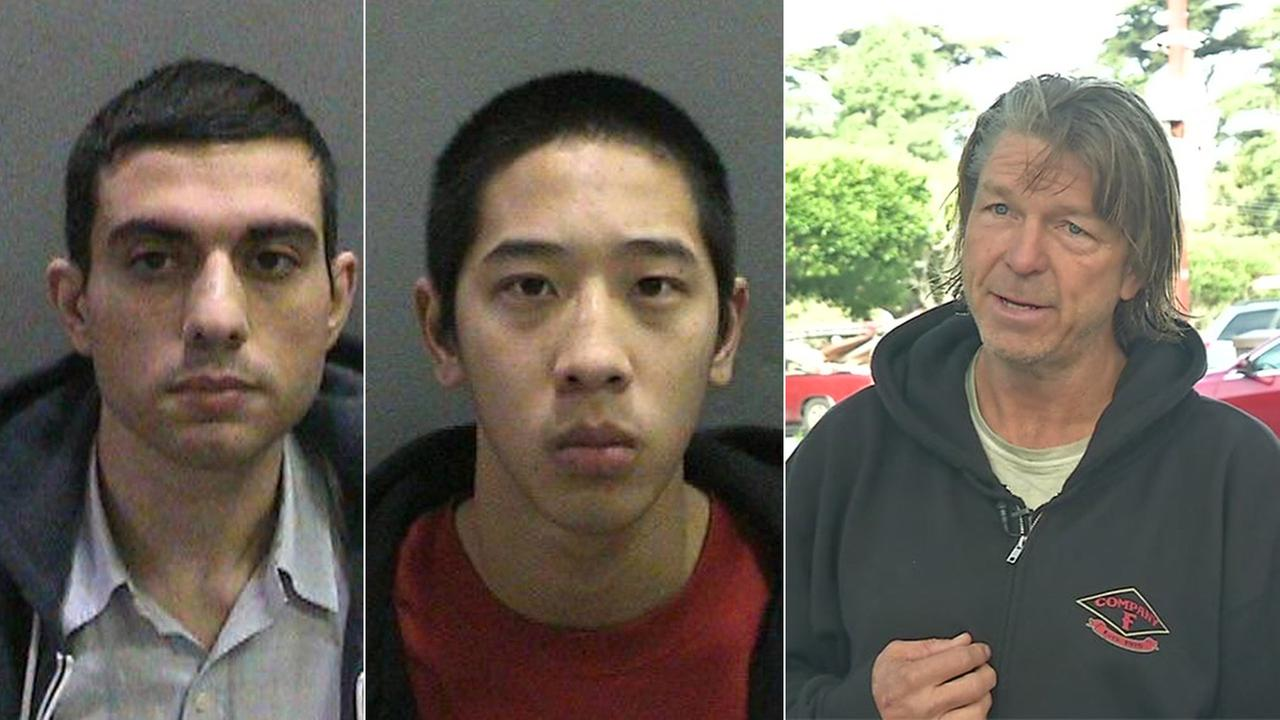 Hossein Nayeri (left), 37, Jonathan Tieu, 20, (center) are shown above in undated mugshots. Matthew Hay-Chapman (right) is seen in this undated photo.