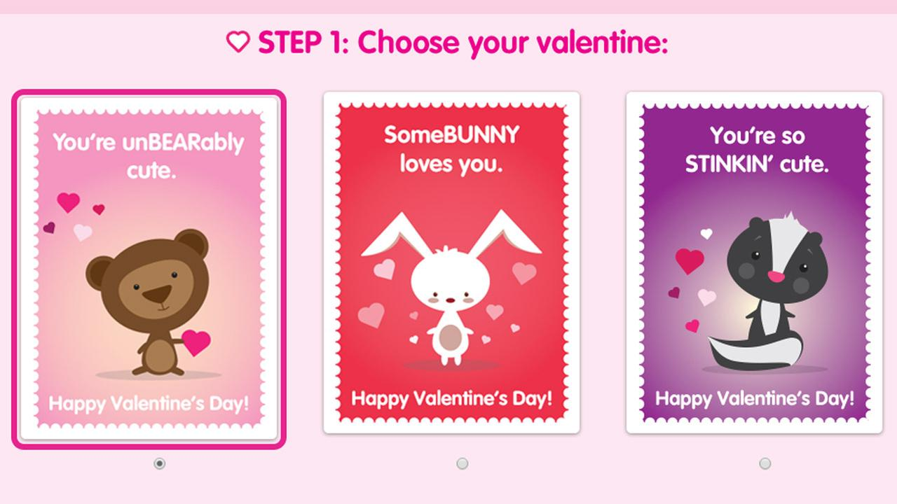 The cards a person can choose from to send to a patient at Childrens Hospital Los Angeles are shown above.