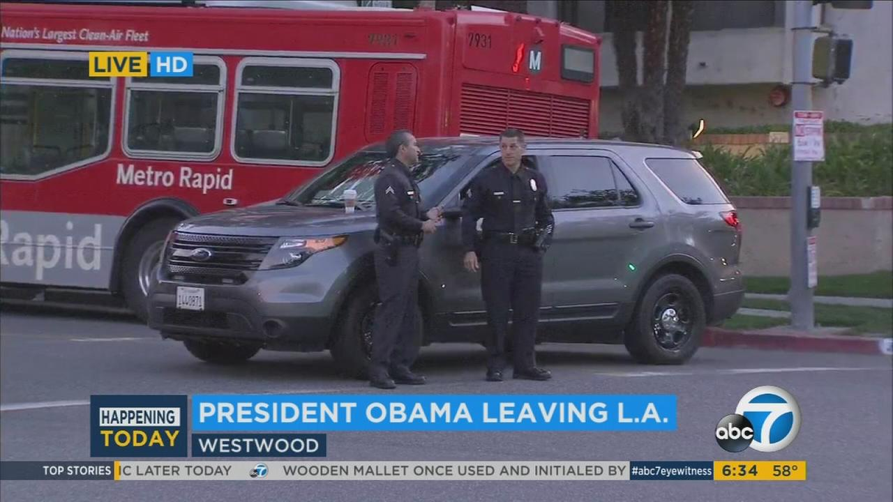 President Barack Obama will depart Los Angeles and head to the Palm Springs area on Friday, February 12, 2016.