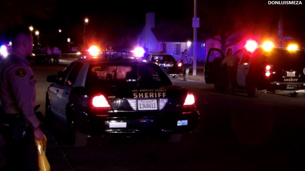 Los Angeles County sheriffs deputies shot and killed an ax-wielding man in the 2800 block of La Vida Drive in Lancaster Thursday, Feb. 1, 2016.