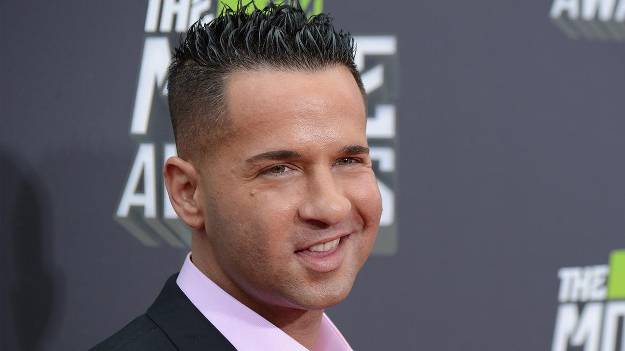 Mike The Situation Sorrentino arrives at the MTV Movie Awards in Sony Pictures Studio Lot in Culver City, Calif., on Sunday April 14, 2013.