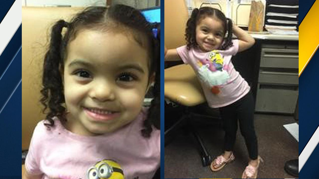 A little girl found wandering the streets of Compton on Saturday, Feb. 13, 2016, is shown in photos above.