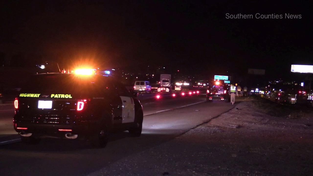 A motorcyclist died in a crash on the 22 Freeway in Orange County early Tuesday.