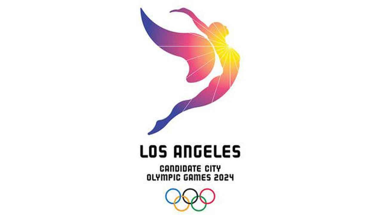 LA 2024 unveiled the logo for the Olympic bid on Tuesday, Feb. 16, 2016.