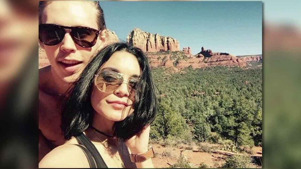 Vanessa Hudgens posted this photo of her and boyfriend Austin Butler in Sedona, Arizona on Monday, Feb. 15, 2016.