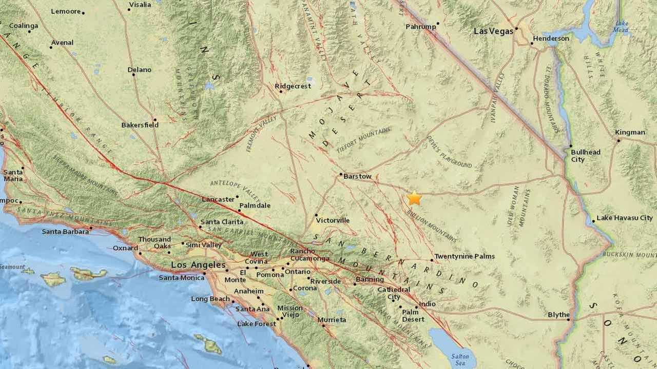 Two earthquakes struck within 10 minutes of each other near Ludlow on Monday, according to the U.S. Geological Survey.