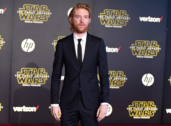 <div class='meta'><div class='origin-logo' data-origin='AP'></div><span class='caption-text' data-credit='Photo by Jordan Strauss/Invision'>Domhnall Gleeson arrives at the world premiere of 'Star Wars: The Force Awakens' at the TCL Chinese Theatre on Monday, Dec. 14, 2015, in Los Angeles.</span></div>