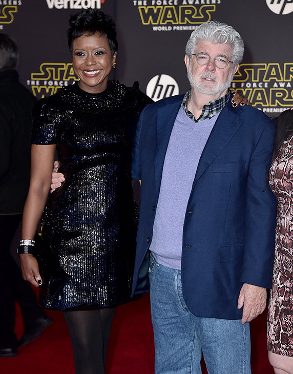 <div class='meta'><div class='origin-logo' data-origin='AP'></div><span class='caption-text' data-credit='Photo by Jordan Strauss/Invision'>Mellody Hobson, left, and George Lucas arrive at the world premiere of 'Star Wars: The Force Awakens' at the TCL Chinese Theatre on Monday, Dec. 14, 2015, in Los Angeles.</span></div>
