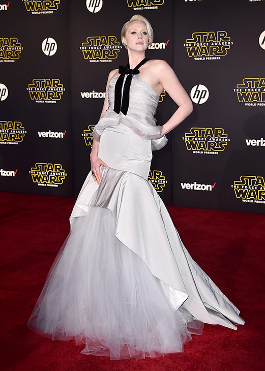 <div class='meta'><div class='origin-logo' data-origin='AP'></div><span class='caption-text' data-credit='Photo by Jordan Strauss/Invision'>Gwendoline Christie arrives at the world premiere of 'Star Wars: The Force Awakens' at the TCL Chinese Theatre on Monday, Dec. 14, 2015, in Los Angeles.</span></div>