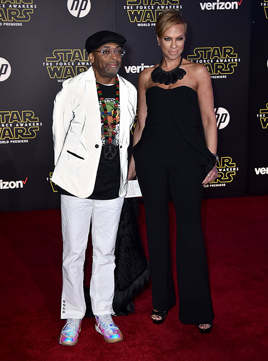 <div class='meta'><div class='origin-logo' data-origin='AP'></div><span class='caption-text' data-credit='Photo by Jordan Strauss/Invision'>Spike Lee, left, and Tonya Lewis Lee arrive at the world premiere of 'Star Wars: The Force Awakens' at the TCL Chinese Theatre on Monday, Dec. 14, 2015, in Los Angeles.</span></div>