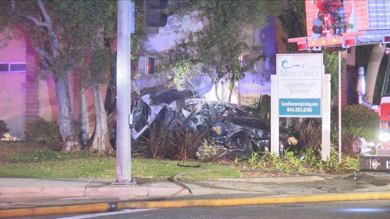 Men Killed In Fiery Crash In Huntington Beach