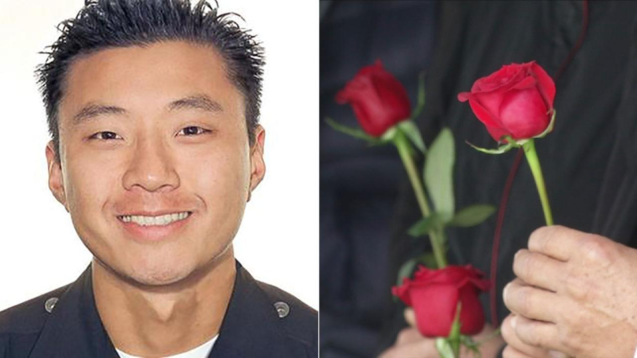Fallen Los Angeles Police Department officer Nicholas Choung Lee was remembered Monday, March 7, 2016 during a tribute ceremony held at Forest Lawn Cemetery in Glendale.