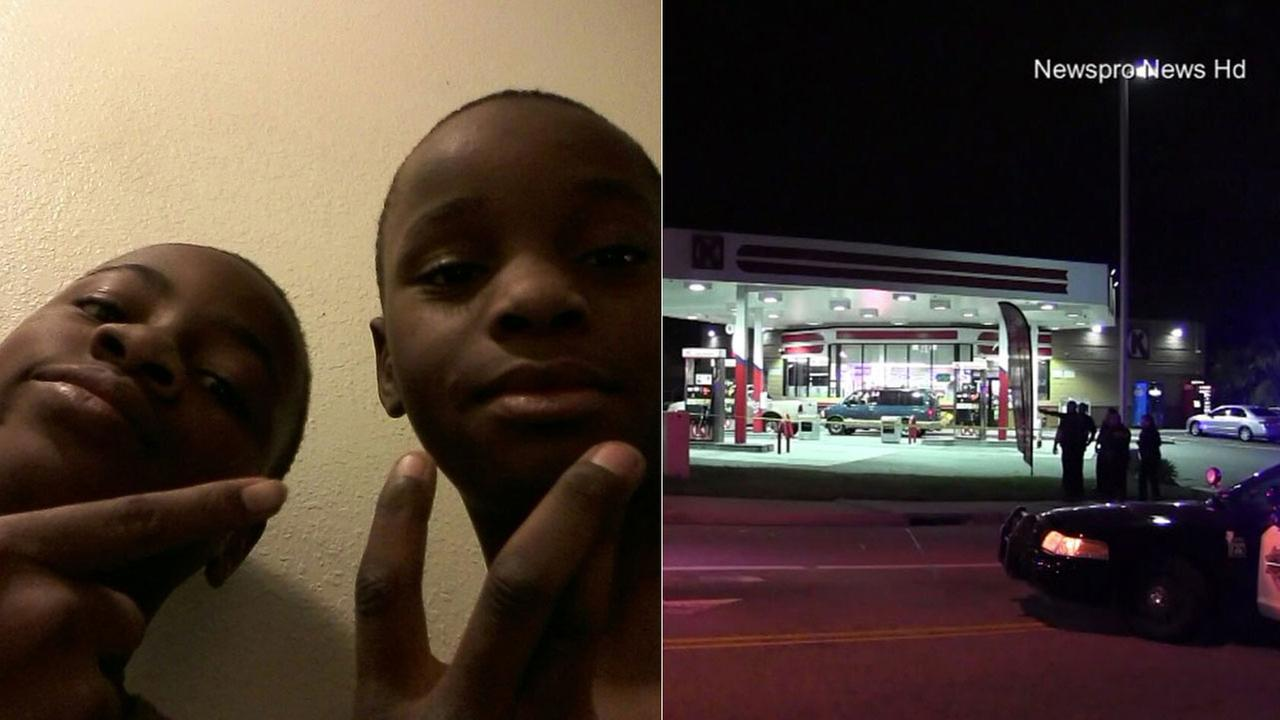 Terrance Spears, 14, (left) and Jason Spears, 12, (right) were shot near Orange Street and Love Lane in San Bernardino Sunday, March 13, 2016.