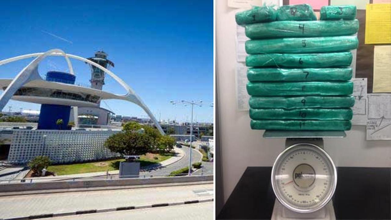 A flight attendant ran from Terminal 4 after officials said TSA officers caught her trying to smuggle cocaine onto a flight leaving LAX on Friday, March 18, 2016.