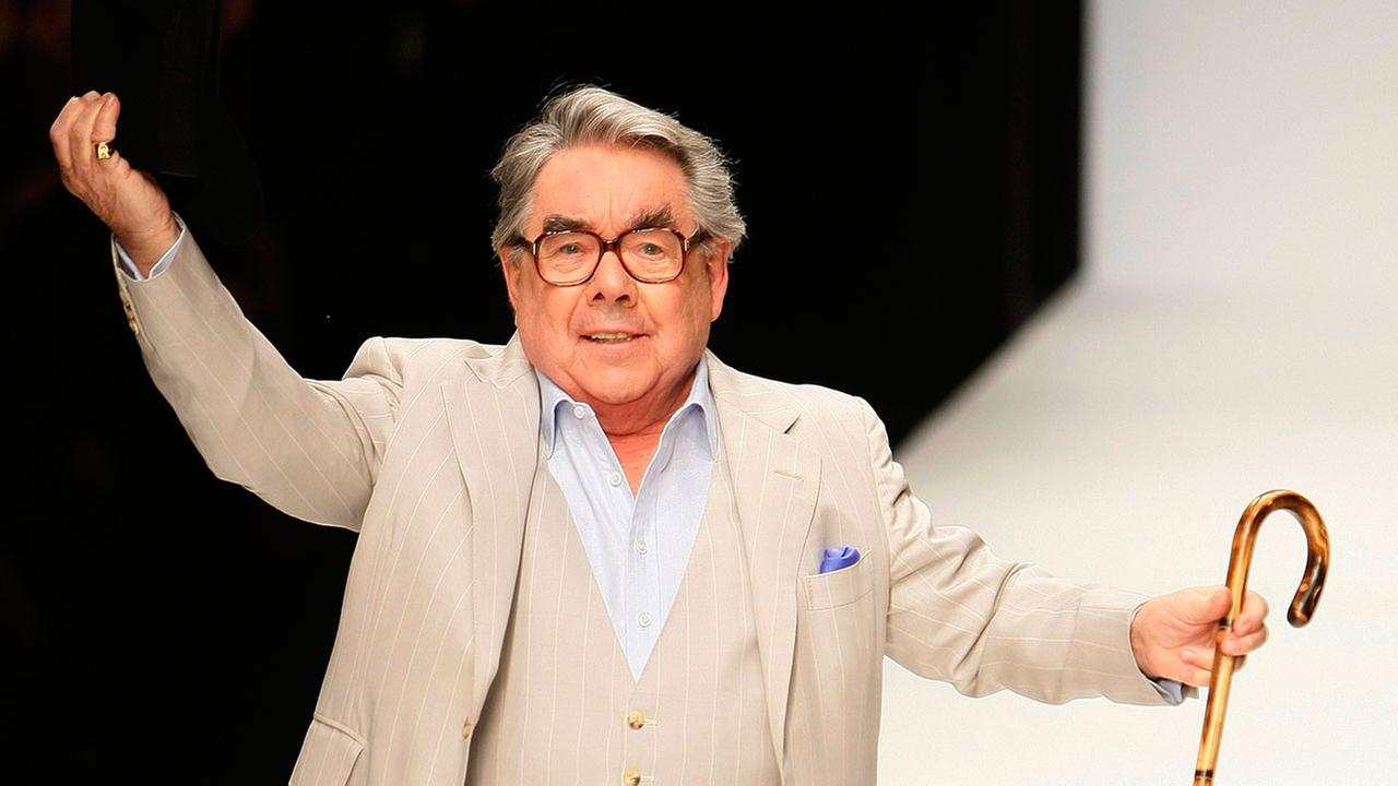 British comic actor Ronnie Corbett at Naomi Campbells Fashion for Relief -Haiti show in London, Thursday, Feb. 18, 2010