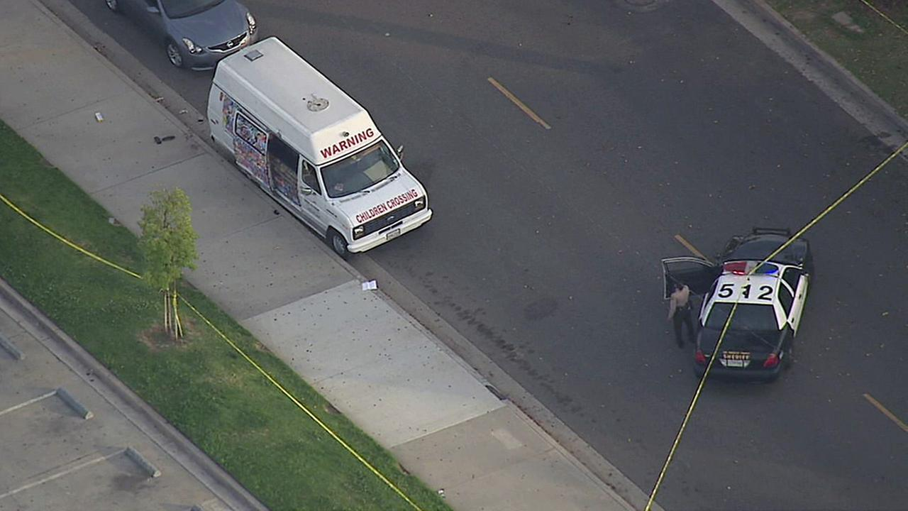 An ice cream truck driver was beaten and robbed near California High School on Tuesday, April 5, 2016, according to the Los Angeles County Sheriffs Department.