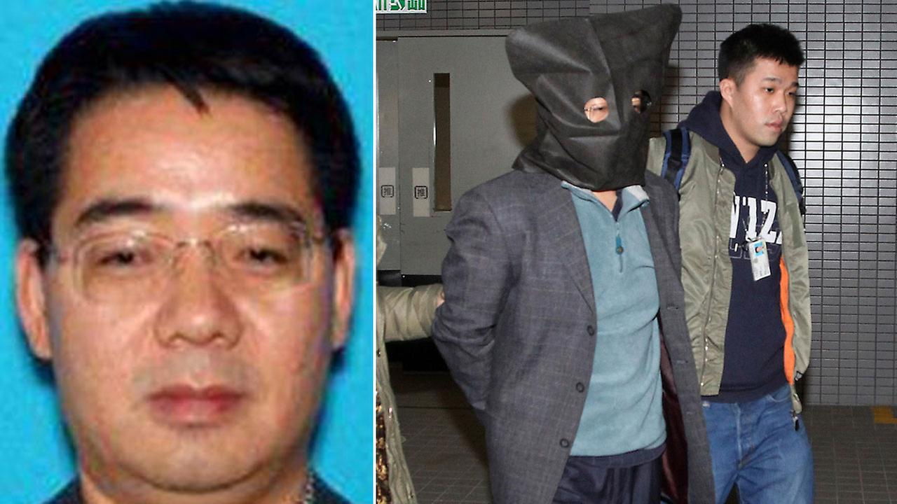 Deyun Shi, 44, is shown in an undated DMV photo alongside an image of him after being arrested in Hong Kong on Sunday, Jan. 24, 2016.